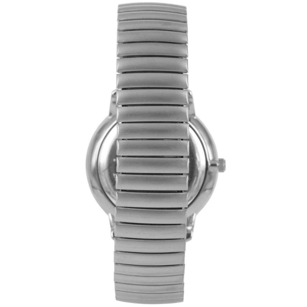 Prisma P1605 heren horloge rekband retro dome zilver schuin