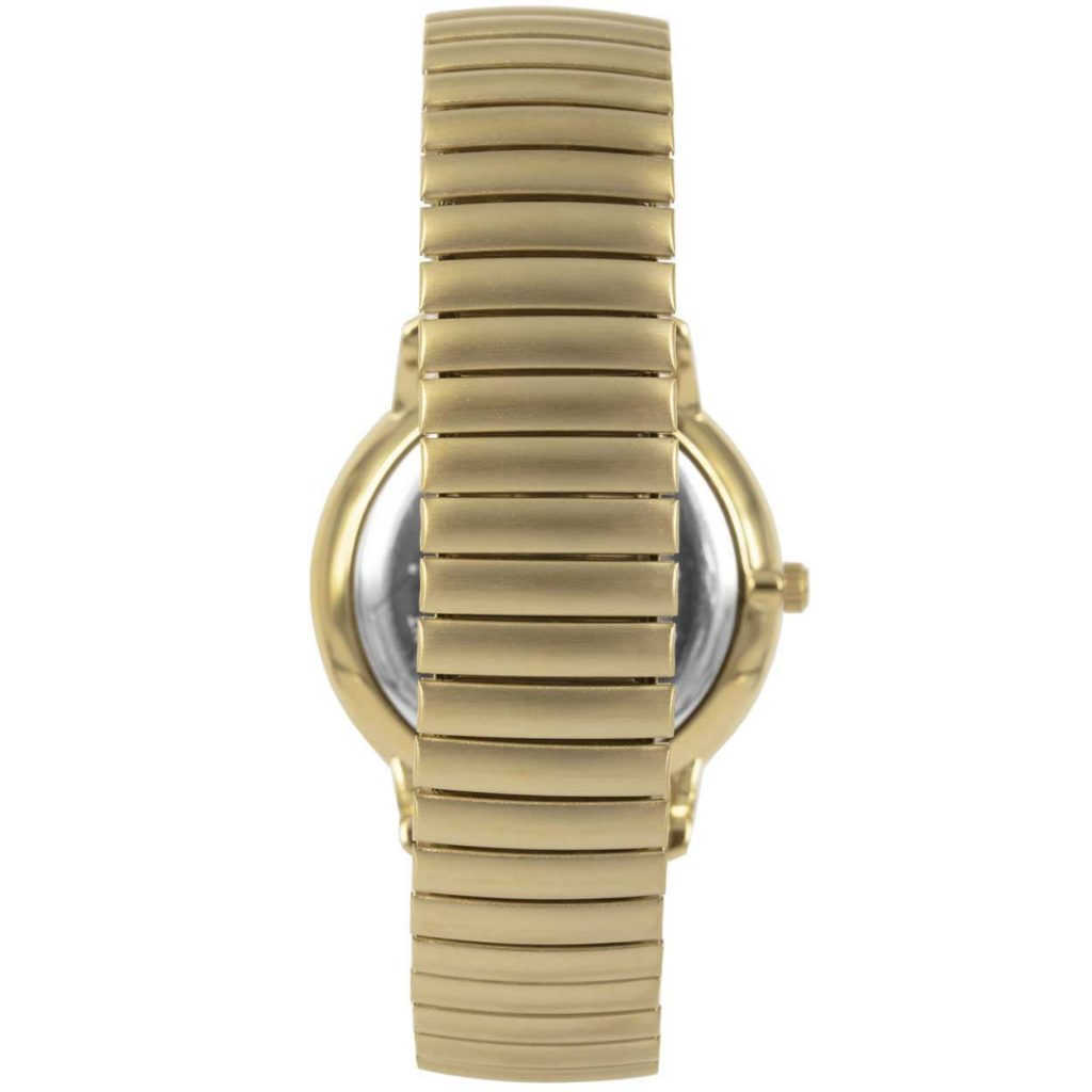 Prisma P1607 heren horloge rekband retro dome goud