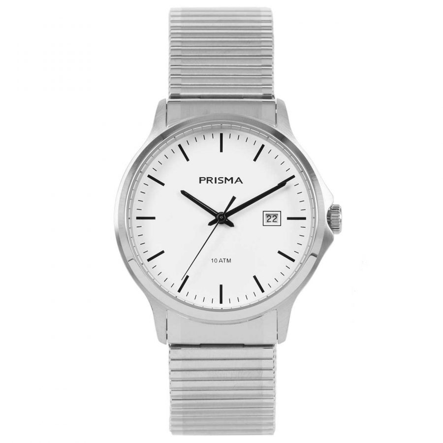Prisma P1700 heren horloge edelstaal rekband