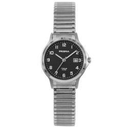 Prisma 1717 dames horloges rekband titanium 10 atm datum