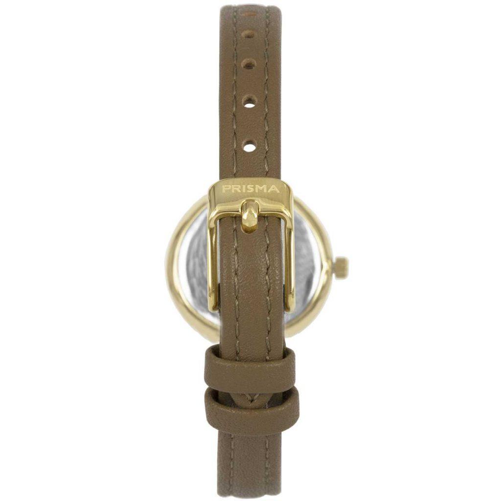 Prisma P1732 dames horloge edelstaal goud saffier