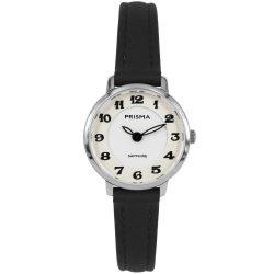 Prisma P1845 dames horloge saffier zwart zilver