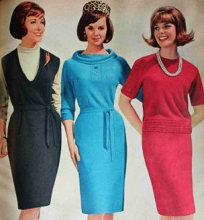 1960 ladies style sixties women costums