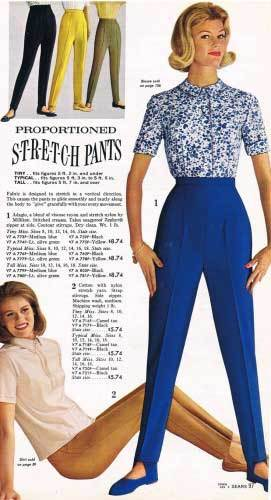 1960 ladies style sixties women trousers