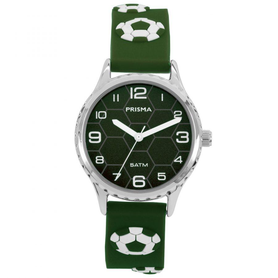 Prisma-CW352-kids-horloge-soccer-groen-voetbal-jongens