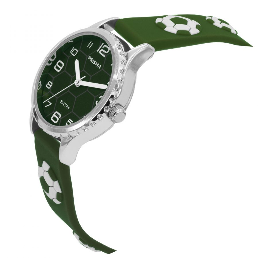 Prisma-CW352-kids-horloge-soccer-groen-voetbal-jongens-schuin