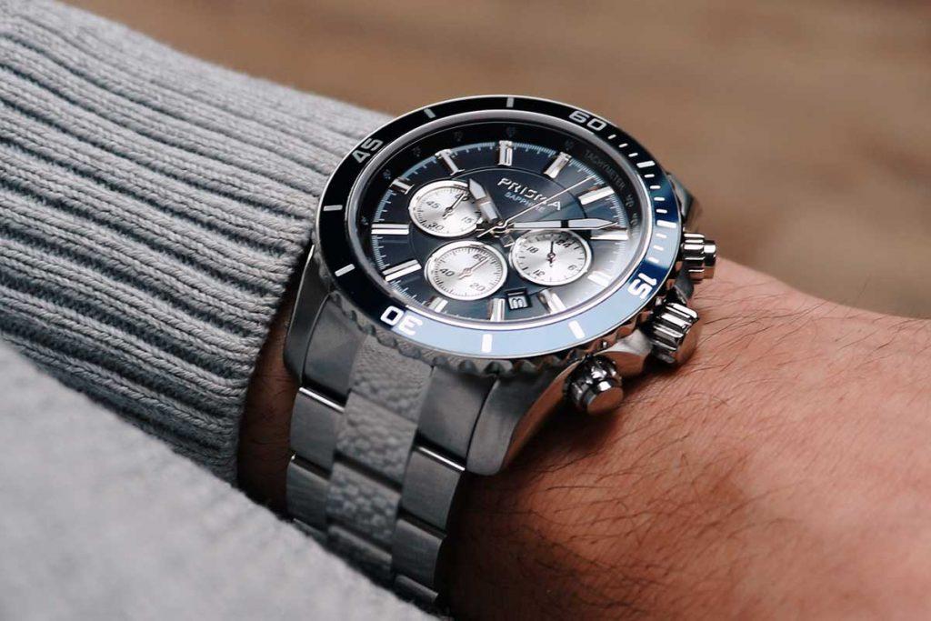 pols shot wrist blue men watch brand blauw heren horloge