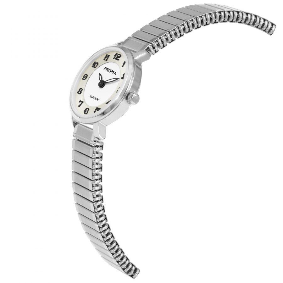 Prisma-1843-dames-horloge-rekband-zilver-schuin
