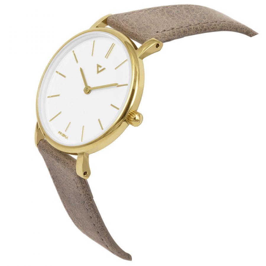 Prisma-P1861-453E-dames-horloge-edelstaal-goud-schuin