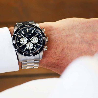 prisma navigator blauw horloge watch blue