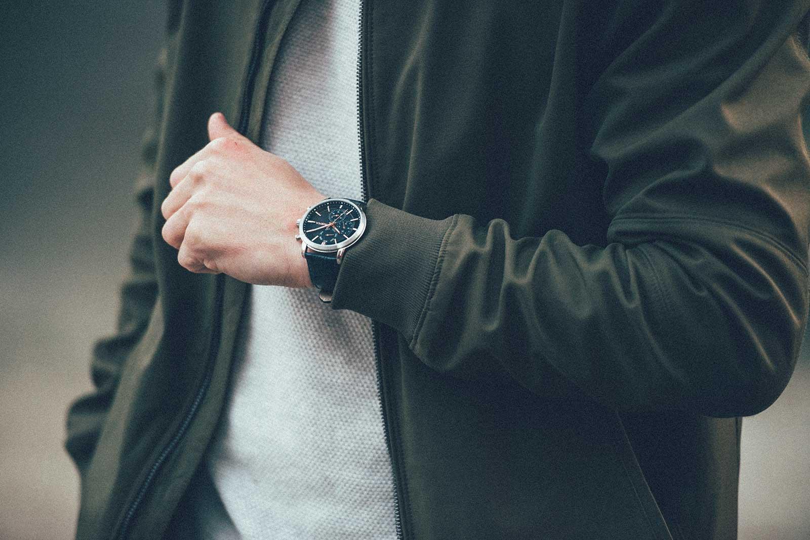 prisma refined horloge watch blauw herenhorloge blue men watch