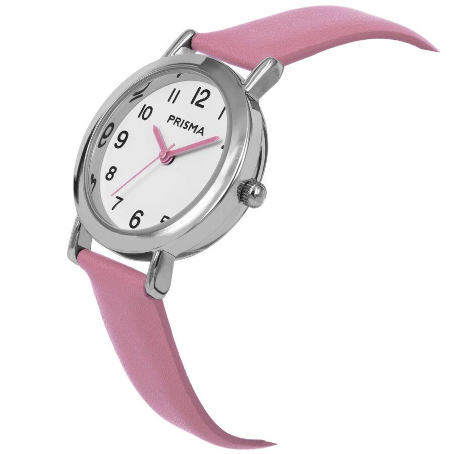 Prisma-CW355-kids-horloge-meisje-roze-vera-schuin