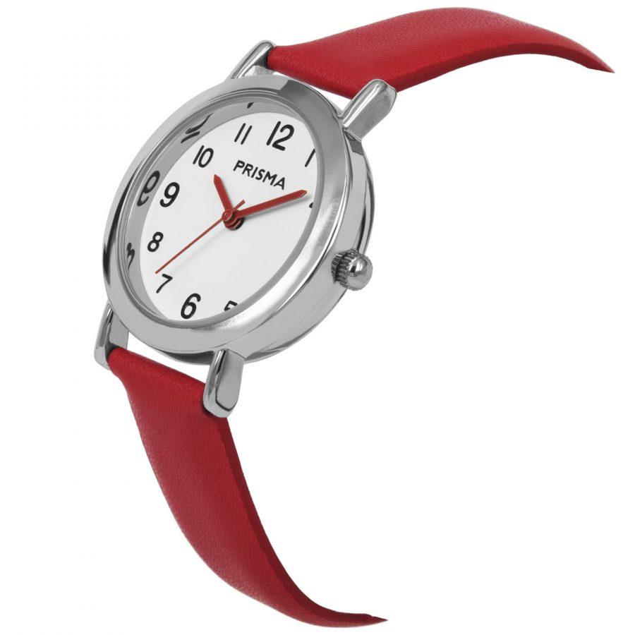Prisma-CW357-kids-horloge-meisje-rood-vera-schuin