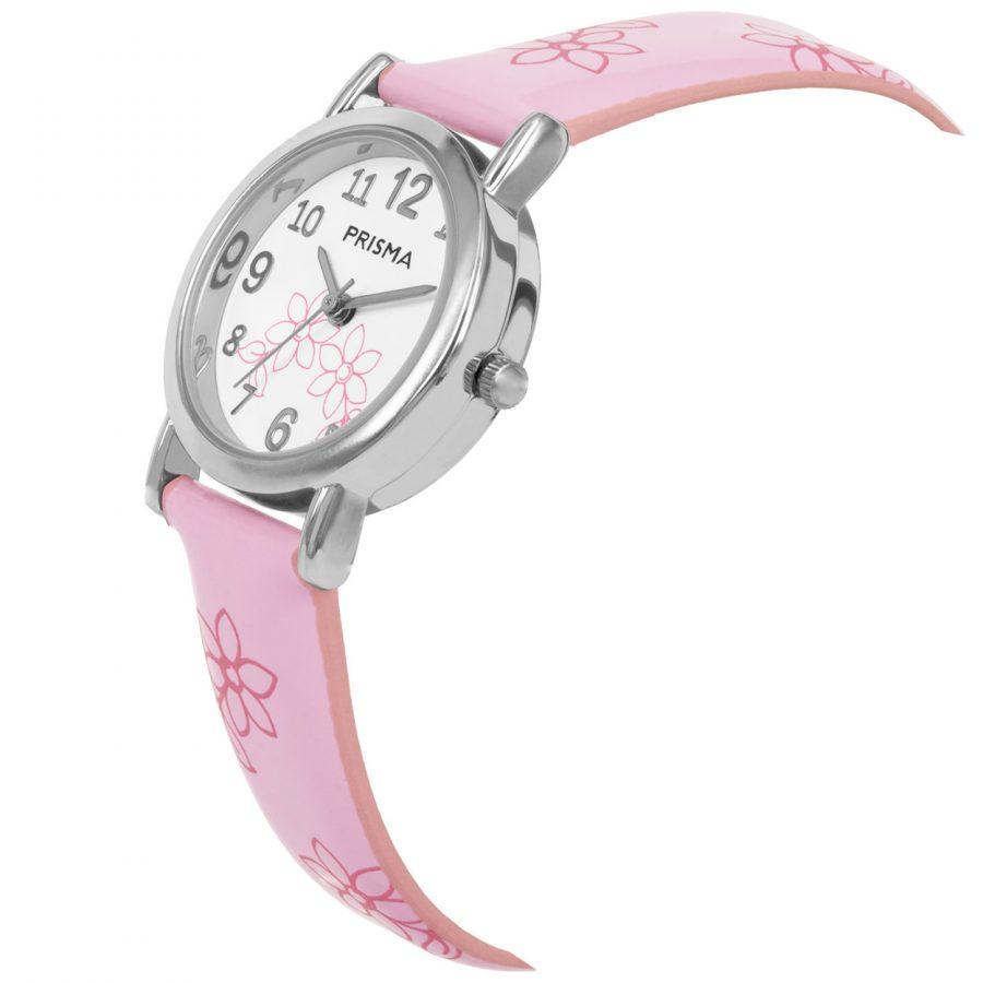 Prisma-CW360-kids-horloge-roze-lily-schuin