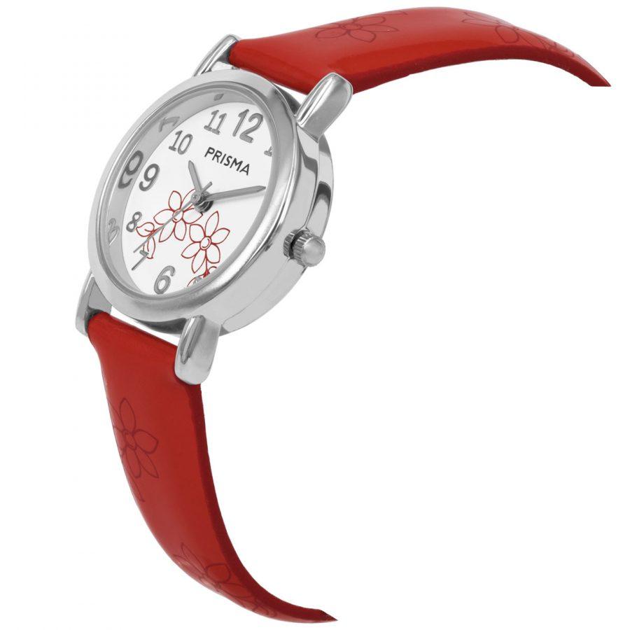 Prisma-CW362-kids-horloge-rood-lily-schuin