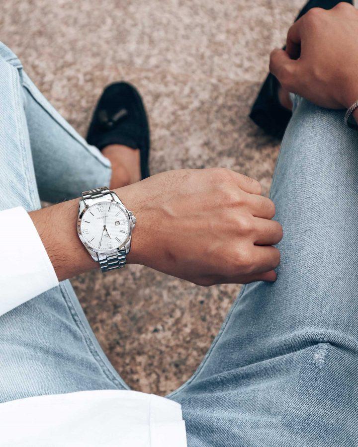 white shirt watch wit overhemd horloge