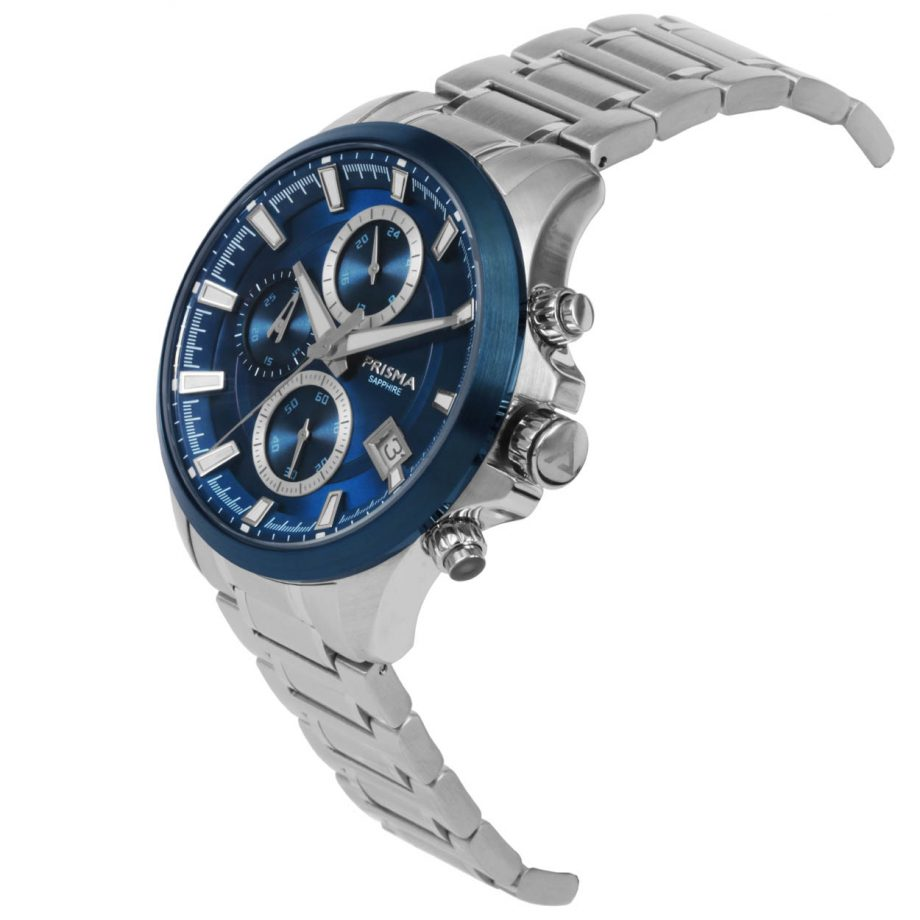 Prisma Triton 1331 Blue chronograph watch blauw blauwe chronograaf horloge