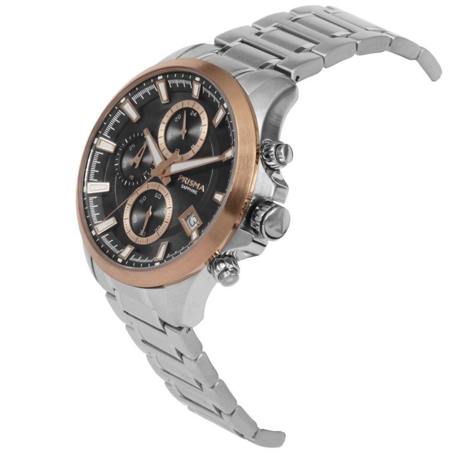 Prisma tribon 1332 Rosegold chronograph watch rosegoud rosegouden chronograaf horloge