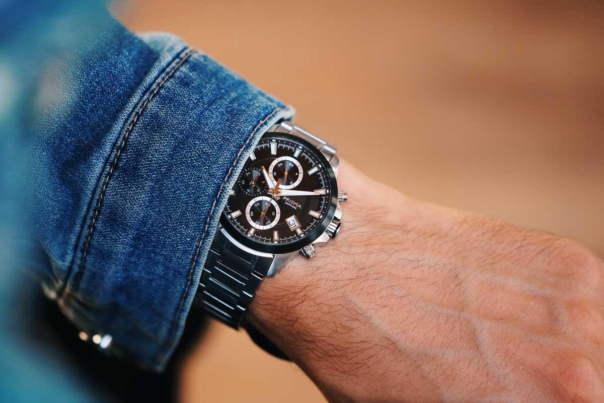 zwart horloge chronograaf heren black watch chronograph men