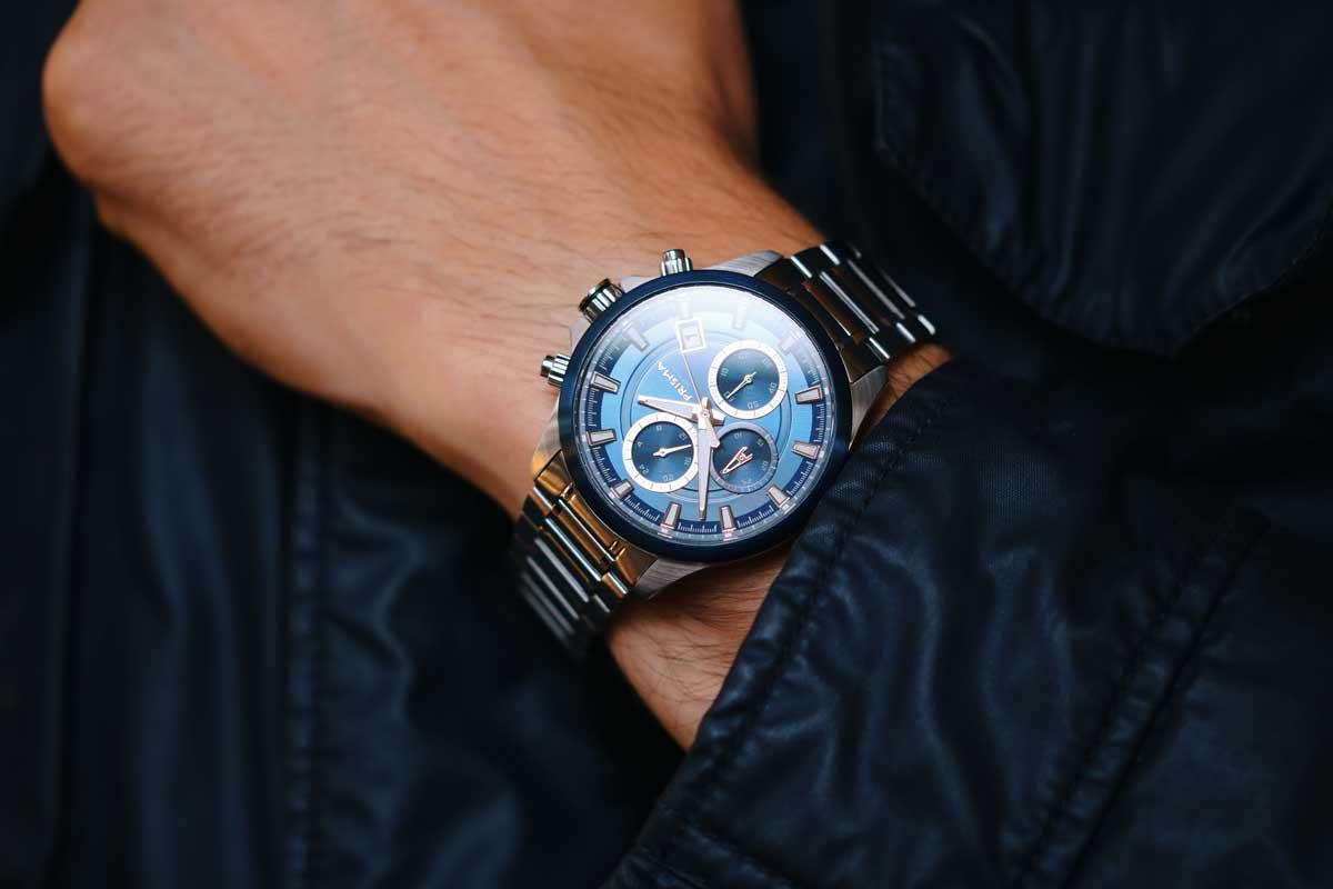 Blue watch chronograph
