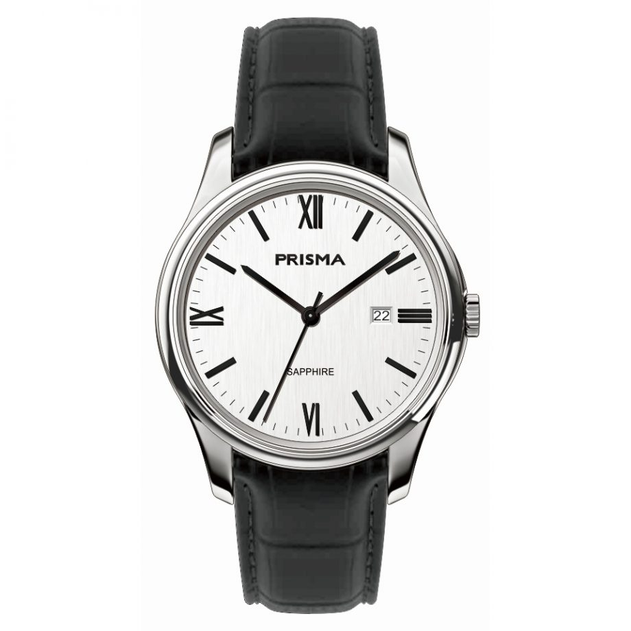 Classci men watch leather watch strap design Dutch watch brand 1948 Prisma 2016 brown leather white dial