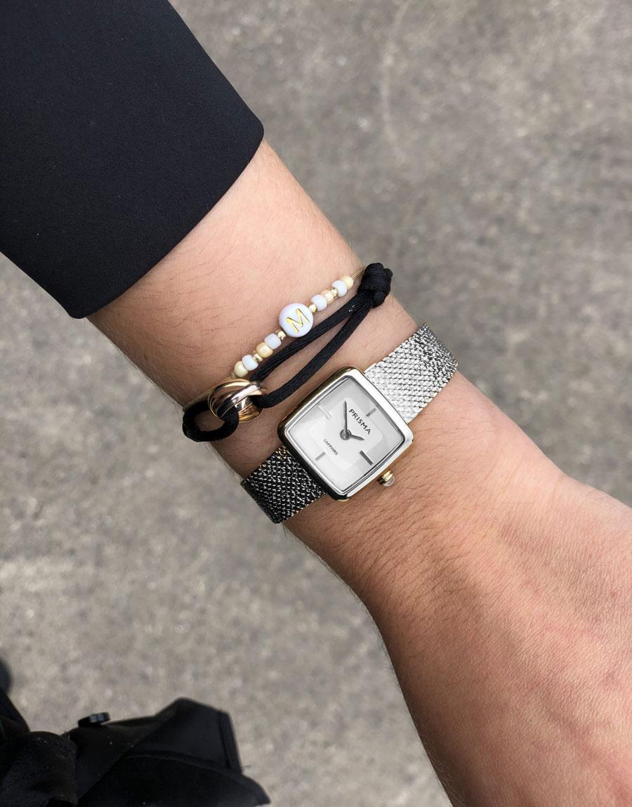 klein vierkant zilver dames horloge small square silver women watch