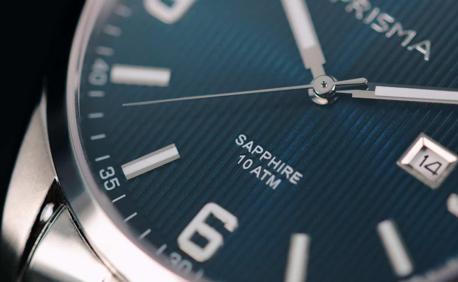 horloge heren saffierglas